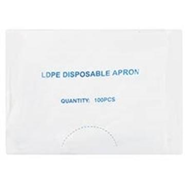 Picture of Plastic Apron White Disposable 100s