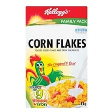 Picture of Kelloggs Corn Flakes Cereal Box 1kg