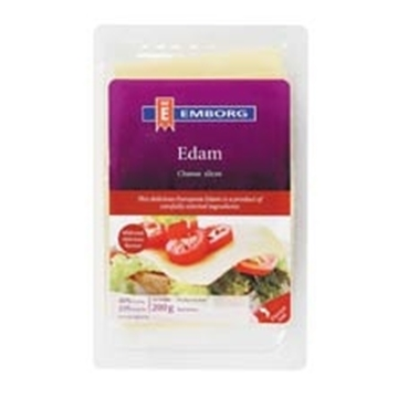 Picture of CHEESE SLICES EDAM EMBORG 200G PACK