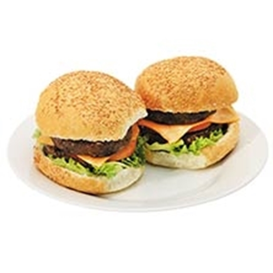 Picture of Caterclassic Frozen 100% Beef Burger Box 24 x 200g