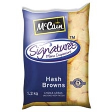 Picture of McCain Frozen Round Hash Brown Potatoes 1.2kg
