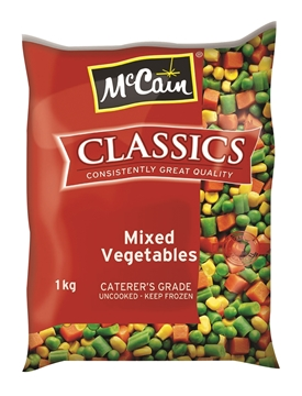 Picture of McCain Frozen Mix Vegetable Pack 1kg