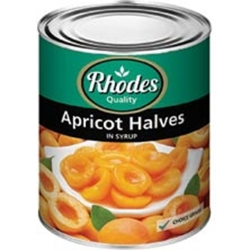 Picture of Rhodes Apricot Halves Can 3.06kg