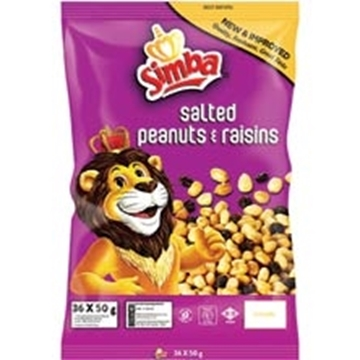 Picture of Simba Peanuts & Raisens Pack 36 x 50g
