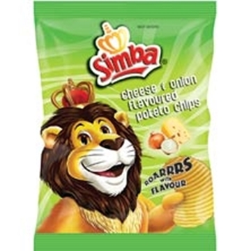 Picture of Simba Cheese & Onion Chips Box 48 x 36g