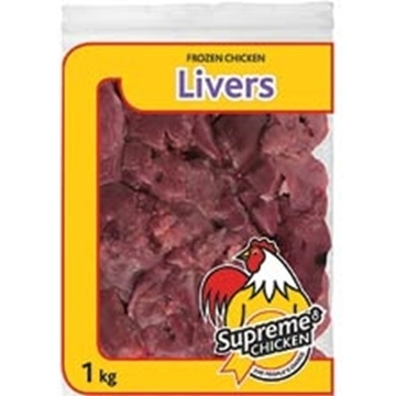 Picture of Supreme Frozen Chicken Livers Pack 1kg
