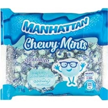 Picture of Manhattan Chewy Mints Spearmint Sweets Pack 1kg