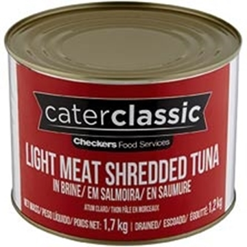 Picture of Caterclassic Tuna Shredded In Brine Can 1.7kg