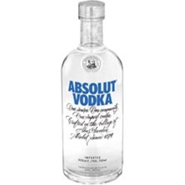 Picture of Absolut Blue Vodka Bottle 750ml