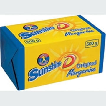 Picture of Sunshine D Original Margarine Brick 30 x 500g