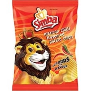 Picture of CHIPS MEXICAN CHILLI SIMBA 24X125G PACK