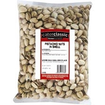 Picture of Caterclassic Pistachios Nuts In Shell Pack 1kg