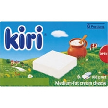 Picture of Kiri Medium Fat Cream Cheese Pack 108g