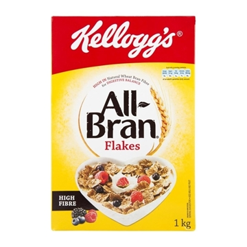 Picture of Kelloggs All Bran Flakes Cereal Box 1kg