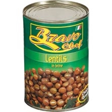 Picture of Bravo Chef Lentils Can 400g