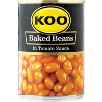 Picture of Koo Beans In Tomato Sauce Can 410g