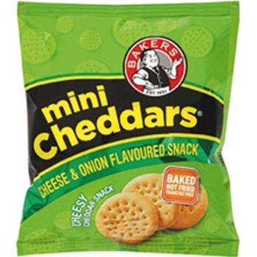 Picture of Bakers Mini Cheddar Cheese & Onion Box 36 x 33g