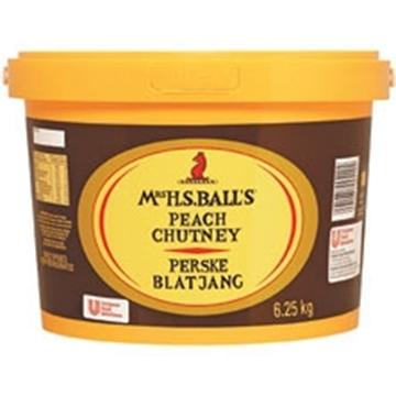 Picture of CHUTNEY PEACH MRS BALLS 6.25KG TUB