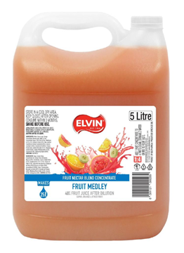 Picture of Elvin Tropical Punch Nectar Concentrate Bottle 5l