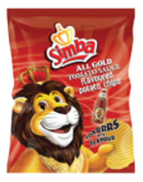 Picture of Simba All Gold Tomato Chips Box 48 x 36g