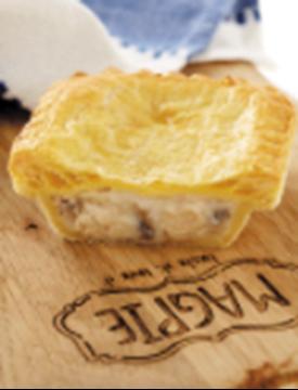 Picture of Magpie Frozen Chicken & Mushroom Pies Box 36s