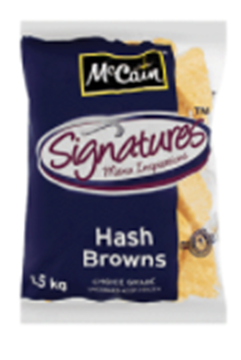 Picture of McCain Frozen Triangular Hash Brown Potatoes 1.5kg