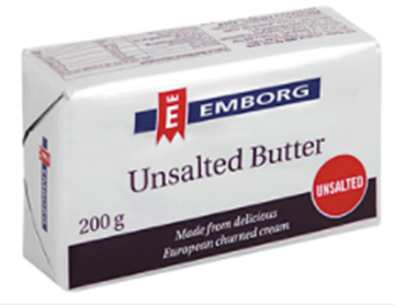 Picture of BUTTER UNSALTED EMBORG 20X200G BOX