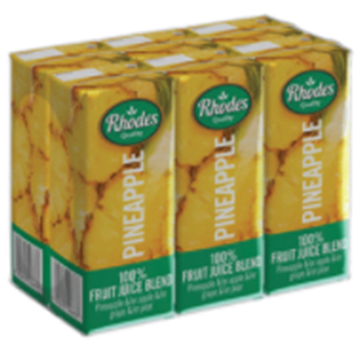Picture of Rhodes Pineapple Juice Pack 6 x 200ml