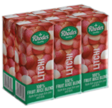 Picture of Rhodes Litchi Juice Pack 6 x 200ml