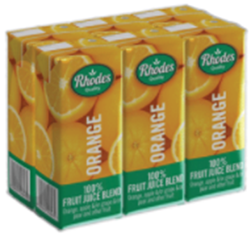 Picture of Rhodes Orange Juice Pack 6 x 200ml