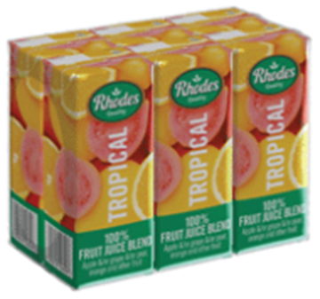 Picture of Rhodes Tropical Juice Pack 6 x 200ml