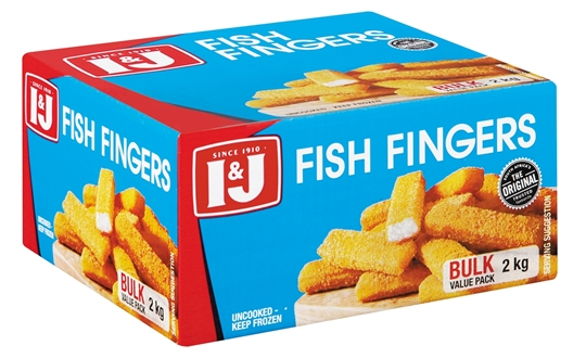 Picture of I&J Frozen Fish Fingers Pack 2kg