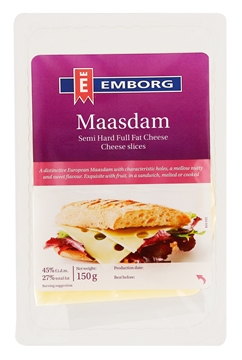 Picture of Emborg Maasdam Cheese Slices Pack 150g