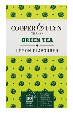 Picture of Cooper & Flyn Green Tea & Lemon Teabags Pack 20s