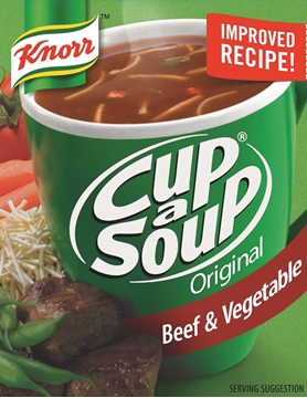Picture of Knorr Cup-A-Soup Original Beef & Vegetable 4 Pack