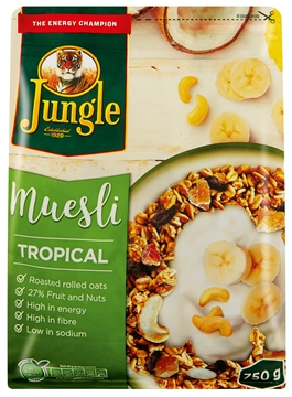 Picture of Jungle Tropical Muesli Cereal Pack 750g
