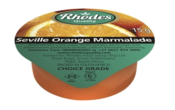 Picture of Rhodes Seville Orange Marmalade Portions 200 x 15g