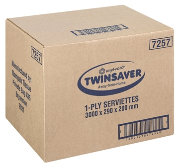 Picture of Twinsaver Serviette 1 Ply 200 x 300 3000s