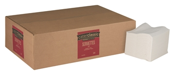 Picture of Catterclassic 1ply Serviette 300 x 300 1000s Box
