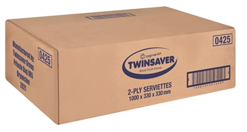 Picture of Twinsaver Serviette 2 Ply 330 x 330 1000s