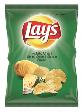 Picture of Lays Spring Onion & Cheese Chips Box 48 x 36g