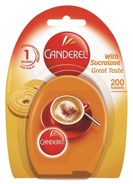 Picture of Canderel Yellow Sweetener Tablets Pack 200s