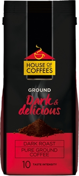 Picture of House of Coffees Espresso Ground Coffee Pouch 250g