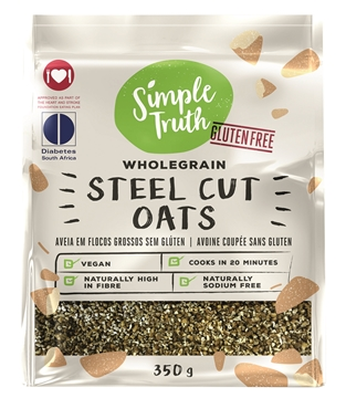 Picture of Simple Truth Steel Cut Oats Porridge Pack 350g