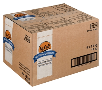 Picture of McCain Frozen Sweet Potato Chips 10mm Box 4 x2.5kg