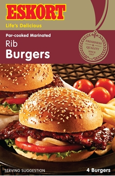 Picture of Eskort Frozen Pork Rib Burger Box 12 x 500g