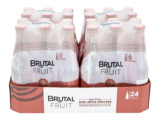 Picture of Brutal Fruit Ruby Apple Cooler Bottles 24 x 275ml