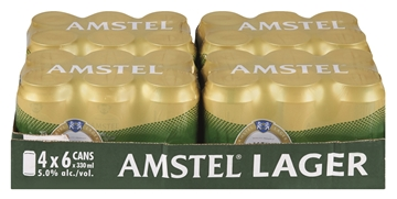 Picture of Amstel Lager Beer Can 24 x 330ml