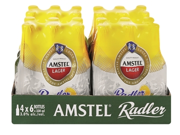 Picture of Amstel Lager Radler Beer Bottles 24 x 330ml