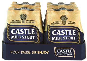 Picture of Castle Milk Stout Beer Bottles 24 x 340ml